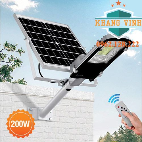 Đèn bàn chải năng lượng mặt trời NLBC-200W